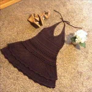 💕A Real Beaty VS, Crochet, Sexy Halter Dress 💕